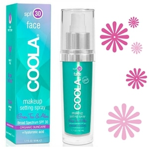 COOLA makeup setting spray is available from Rubywaxx.