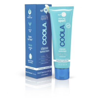 Buy COOLA Sport Sunscreen SPF 50 Face White Tea Moisturizer – with cheap, flat-rate delivery NZ wide.